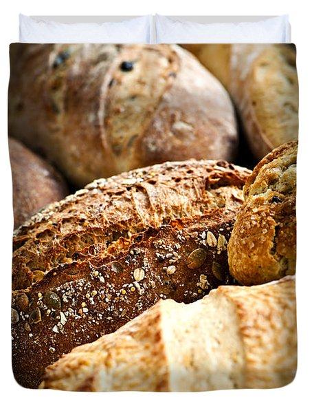 Bread Loaves Duvet Cover by Elena Elisseeva