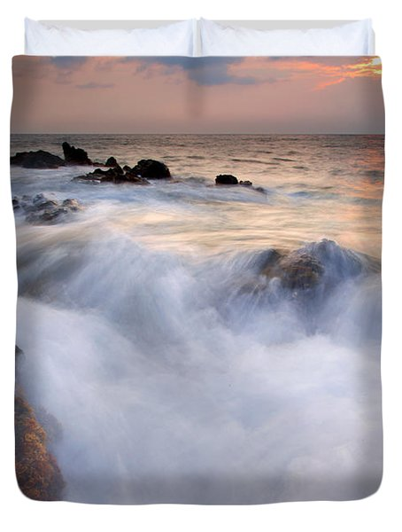 Break In The Storm Duvet Cover by Mike  Dawson