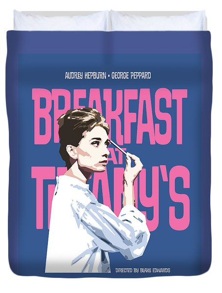 Breakfast At Tiffany's Duvet Cover by Douglas Simonson