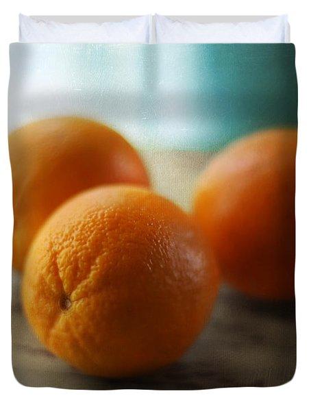 Breakfast Oranges Duvet Cover by Amy Tyler