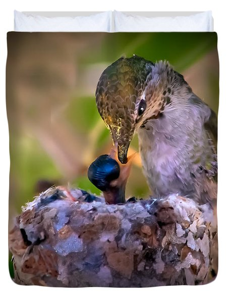 Breakfast Duvet Cover by Robert Bales