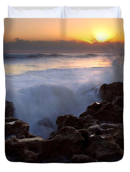 Breaking Dawn Duvet Cover by Mike  Dawson