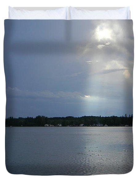 Breaking Through Duvet Cover by Mark Minier