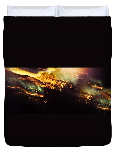 Breakthrough. Empowered by Light Duvet Cover by Jenny Rainbow