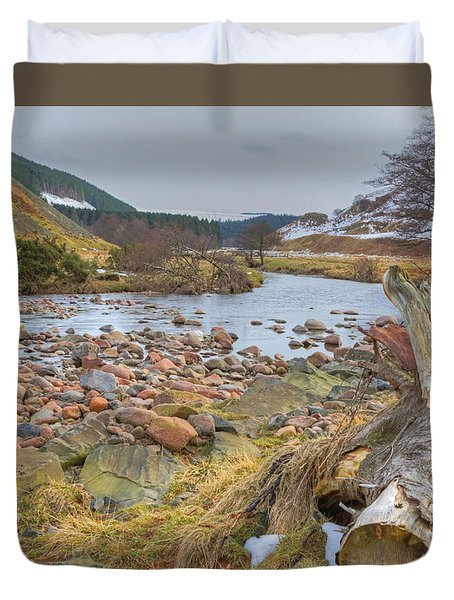 Breamish Valley Landscape Duvet Cover by David Birchall