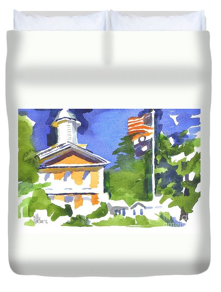 Breezy Morning At The Courthouse Duvet Cover by Kip DeVore