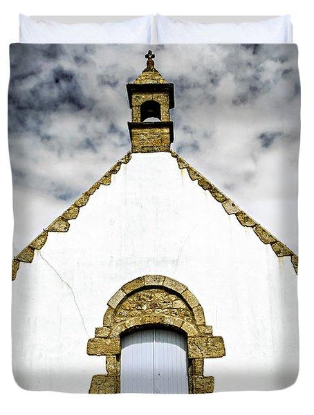 Breton Church Duvet Cover by Elena Elisseeva