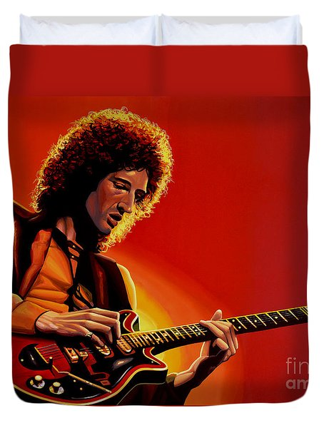 Brian May Duvet Cover by Paul Meijering
