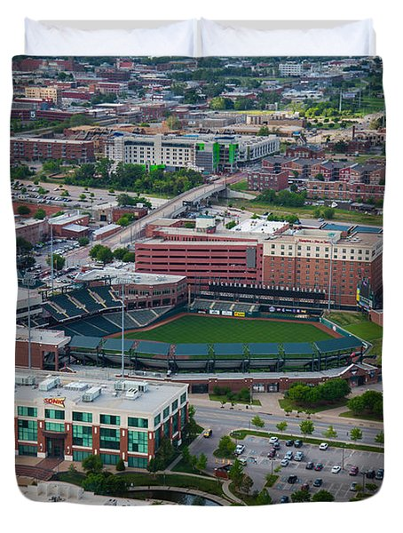 Bricktown Ballpark Duvet Cover by Cooper Ross
