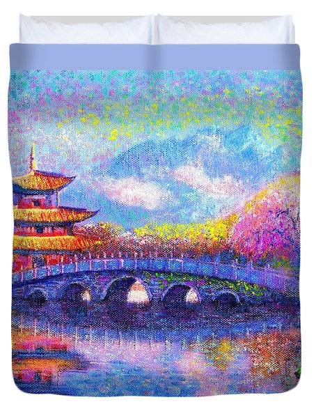 Bridge of Dreams Duvet Cover by Jane Small