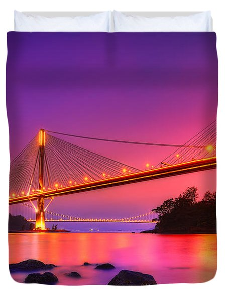 Bridge To Dream Duvet Cover by Midori Chan