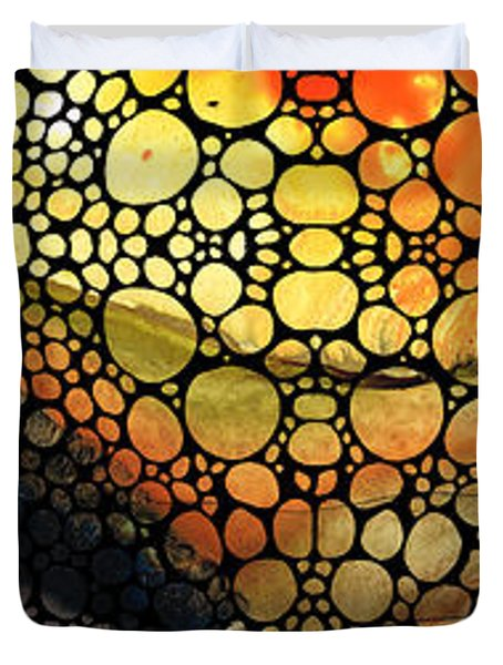 Bridging The Gap - Stone Rock'd Art Print Duvet Cover by Sharon Cummings