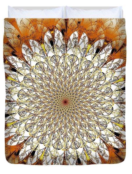 Bright Flower Duvet Cover by Anastasiya Malakhova