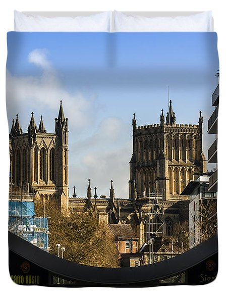 Bristol Cathederal Duvet Cover by Brian Roscorla
