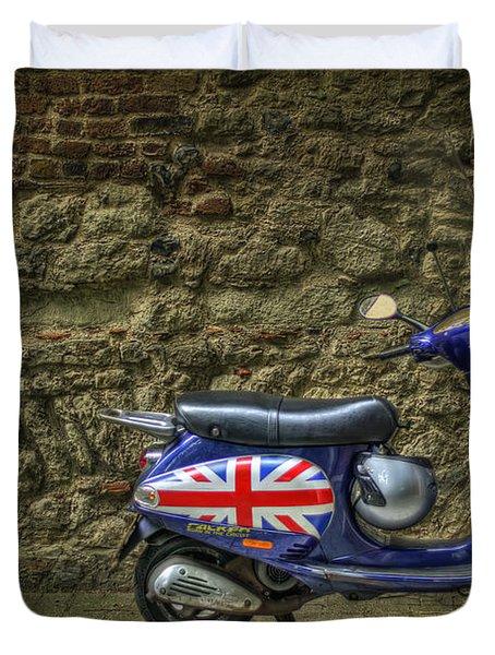 British At Heart Duvet Cover by Evelina Kremsdorf