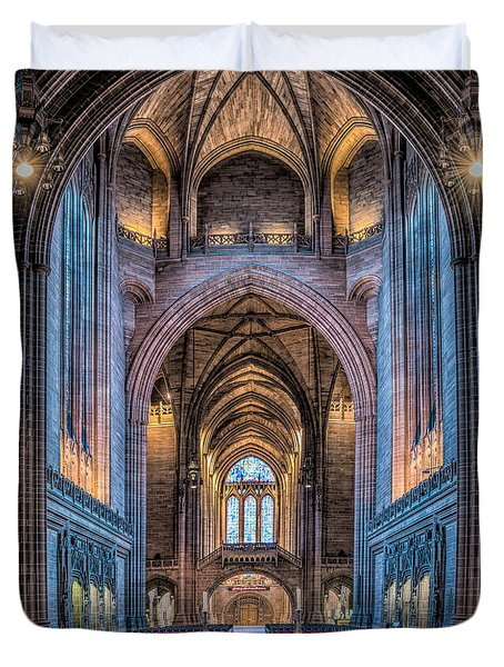 British Cathedral Duvet Cover by Adrian Evans