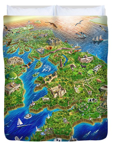 British Isles Duvet Cover by Adrian Chesterman