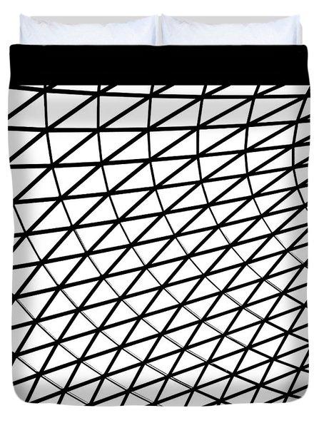 British Museum Geometry Duvet Cover by Rona Black