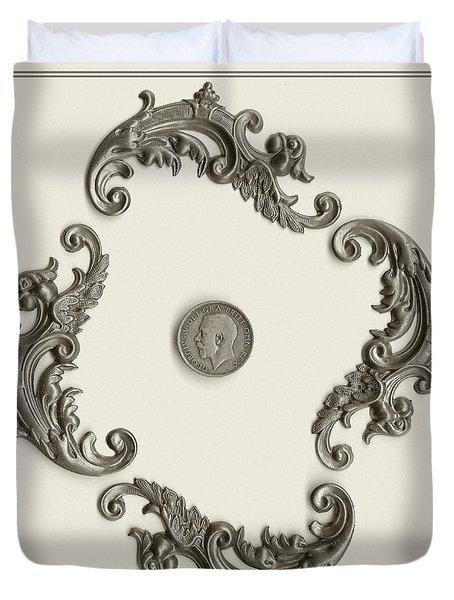 British Shilling Wall Art Duvet Cover by Joseph Baril