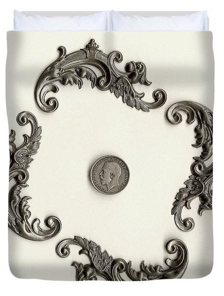 British Shilling Wall Art Version 1 Duvet Cover by Joseph Baril