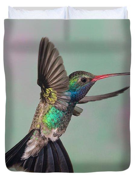 Broad-billed Hummingbird Duvet Cover by Jim Zipp