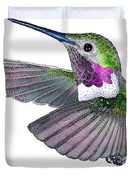 Broad-tailed Hummingbird Duvet Cover by Roger Hall