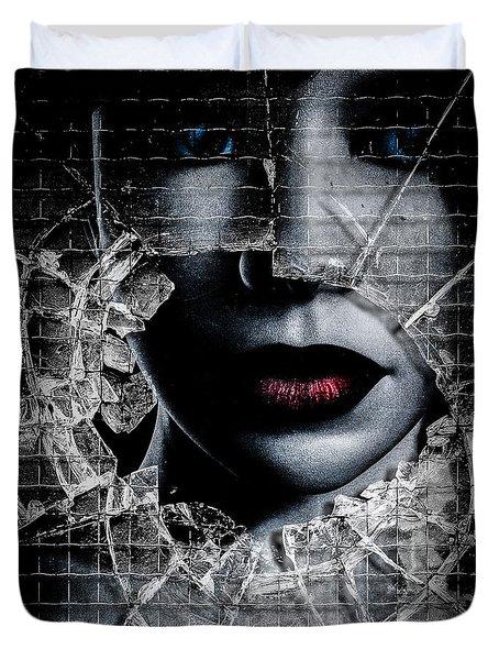 Broken Window Duvet Cover by Bob Orsillo