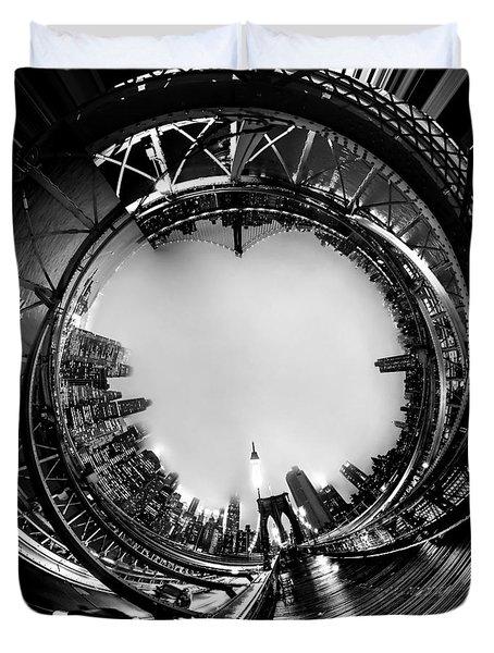 Brooklyn Bridge Circagraph 4 Duvet Cover by Az Jackson