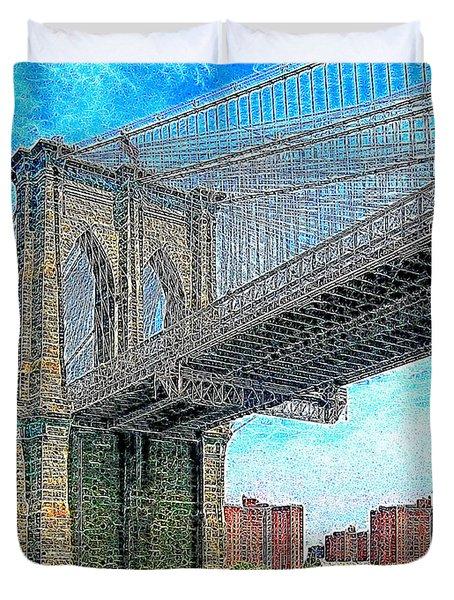 Brooklyn Bridge New York 20130426 Duvet Cover by Wingsdomain Art and Photography