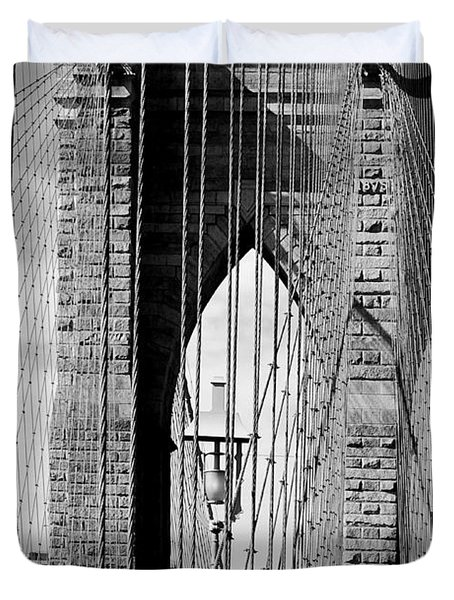 Brooklyn Bridge New York City Usa Duvet Cover by Sabine Jacobs