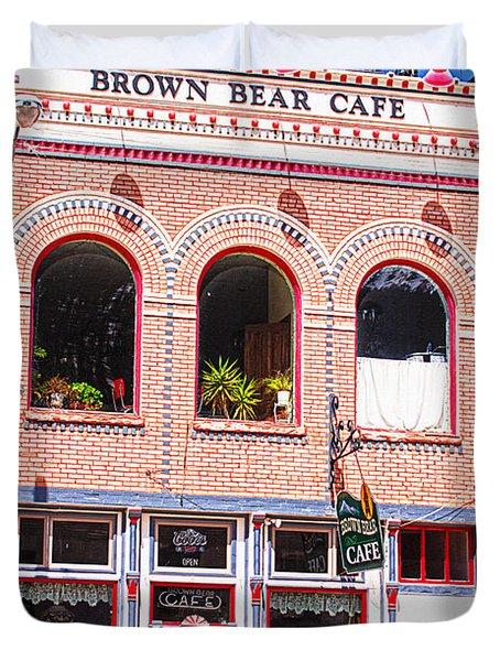 Brown Bear Cafe Silverton Colorado Duvet Cover by Janice Rae Pariza