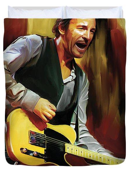 Bruce Springsteen Artwork Duvet Cover by Sheraz A