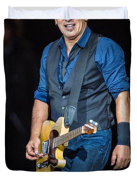 Bruce Springsteen Duvet Cover by Georgia Fowler
