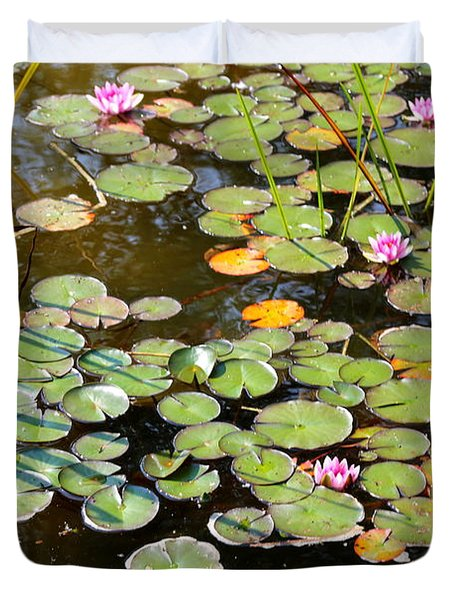 Bruges Lily Pond Duvet Cover by Carol Groenen