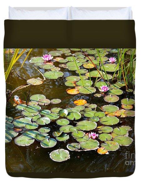 Bruges Lily Pond Duvet Cover by Carol Groenen