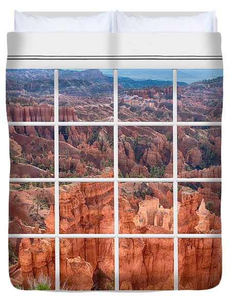 Bryce Canyon White Picture Window View Duvet Cover by James BO  Insogna