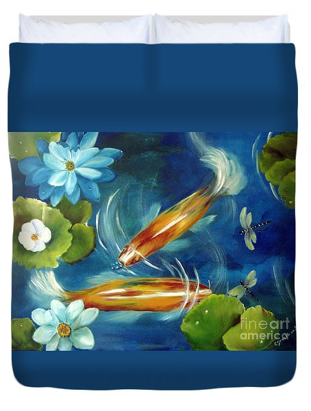 Bubble Maker Duvet Cover by Carol Sweetwood