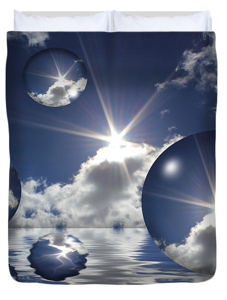 Bubbles In The Sun Duvet Cover by Shane Bechler