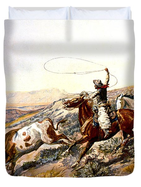 Buccaroos Duvet Cover by Charles Russell