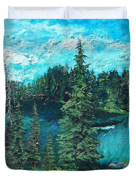 Buck Lake Duvet Cover by Joseph Demaree