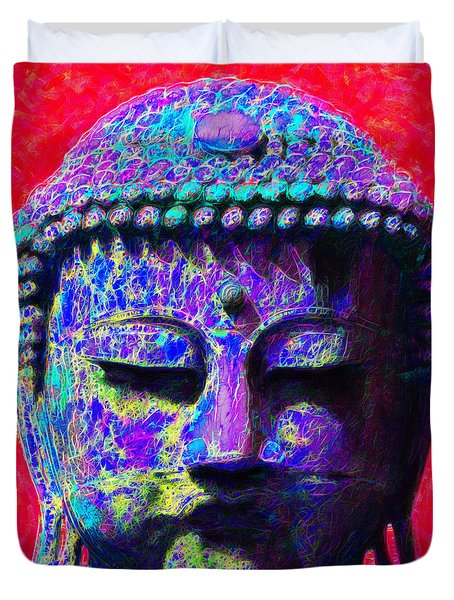 Buddha 20130130p128 Duvet Cover by Wingsdomain Art and Photography