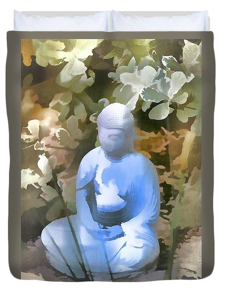 Buddha 3 Duvet Cover by Pamela Cooper