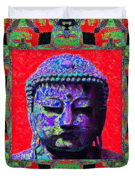 Buddha Abstract Window 20130130p55 Duvet Cover by Wingsdomain Art and Photography