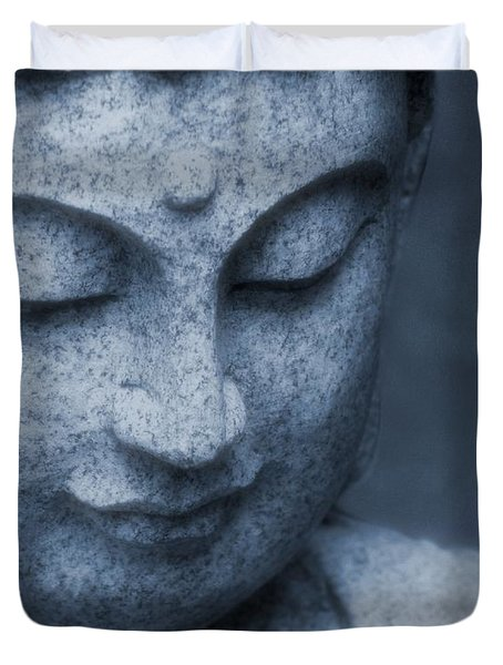 Buddha Statue Duvet Cover by Dan Sproul