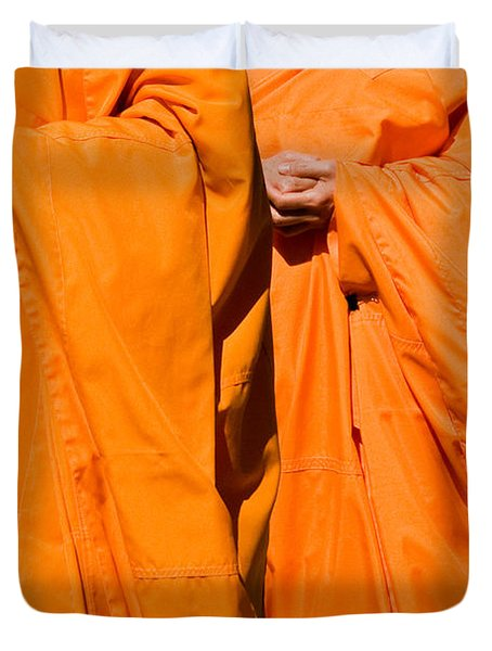 Buddhist Monks 02 Duvet Cover by Rick Piper Photography