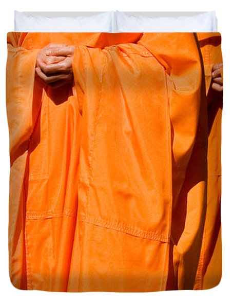 Buddhist Monks 03 Duvet Cover by Rick Piper Photography