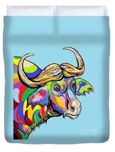 Buffalo Duvet Cover by Eloise Schneider