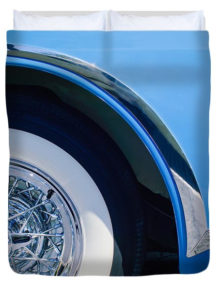 Buick Skylard Wheel Emblem Duvet Cover by Jill Reger