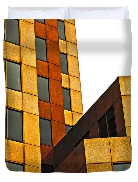 Building Blocks Duvet Cover by Karol Livote