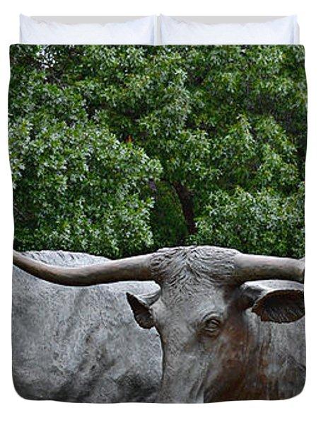 Bull Market Quadriptych 3 Of 4 Duvet Cover by Christine Till